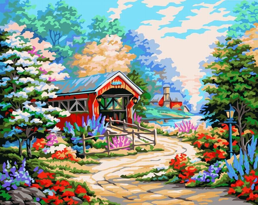 Картина по номерам Провинциальный пейзаж