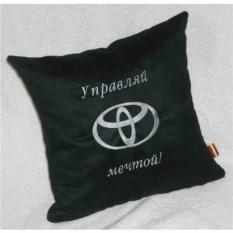 Черная подушка Toyota – управляй мечтой
