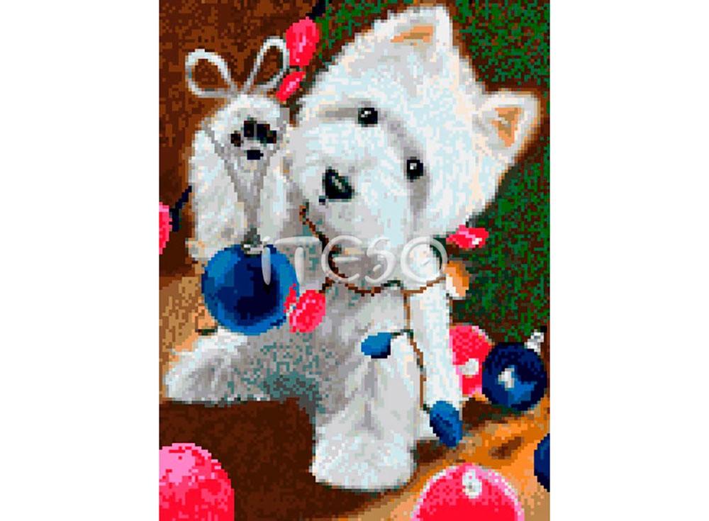 Набор для вышивки стразами «В ожидании Рождества»