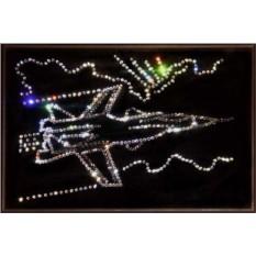Картина с кристаллами Swarovski Су-27