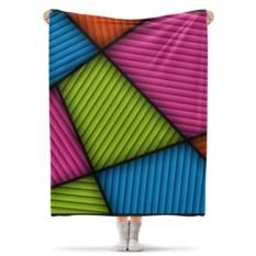 Плед флисовый 130х170 см Цветная абстракция