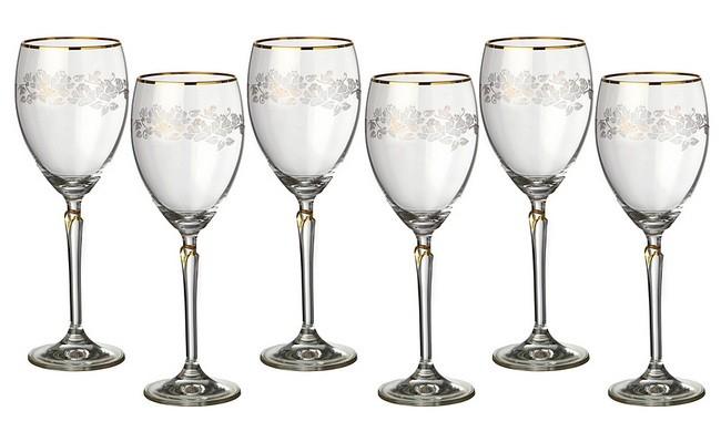 Набор из 6 бокалов для вина 250 мл Crystalex Лили