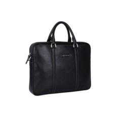 Чёрная мужская кожаная сумка Leo Ventoni