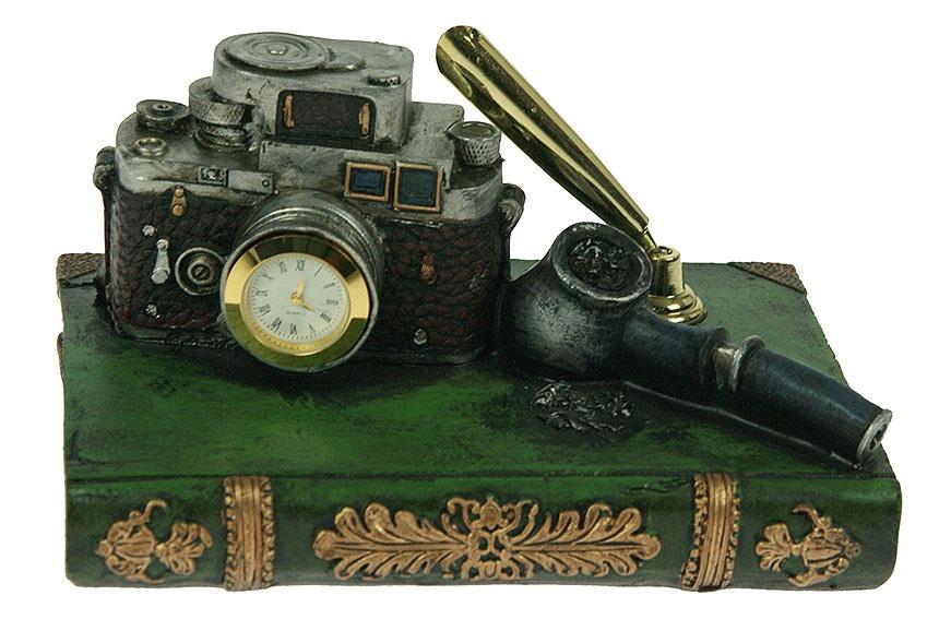 Настольный набор Ретро: часы, подставка под ручку