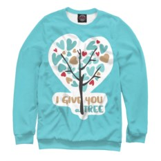 Женский свитшот I Give you a Tree