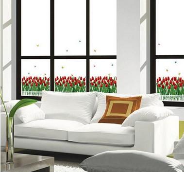 Набор интерьерных стикеров Фанфан тюльпан