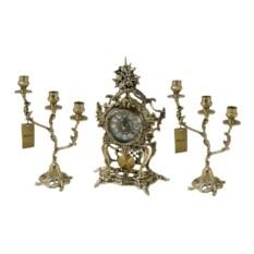 Каминные часы с канделябрами Юнона