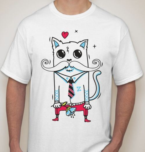 Мужская футболка Принц-кот