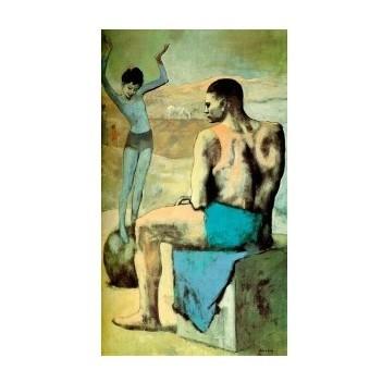 Репродукция картины Пикассо «Девочка на шаре»