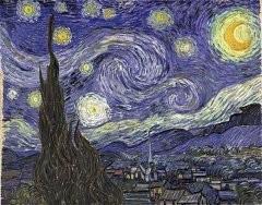 Раскраска по номерам на холсте Звездная Ночь