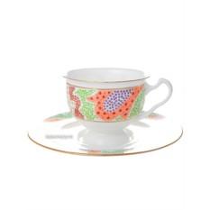 Чайная чашка с блюдцем, форма Айседора, рисунок Мариенталь оранжевый