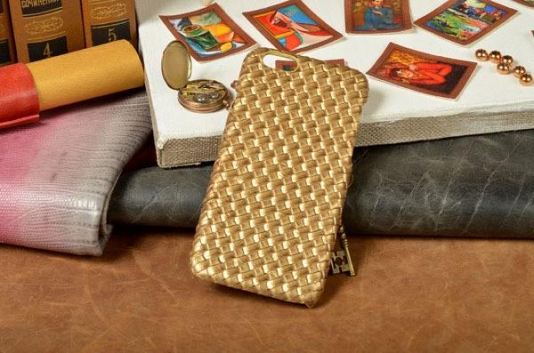 Кожаный чехол плетеной фактуры для iPhone 6S / 6 с