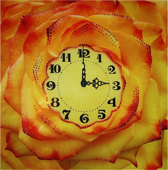 Часы с кристаллами Swarovski Чайная роза
