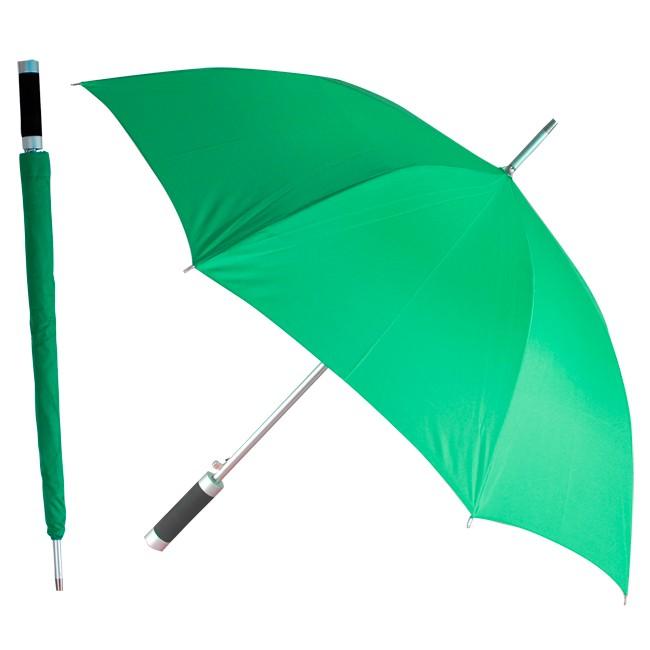 Зонт-трость Rumba, полуавтомат в чехле, зеленый