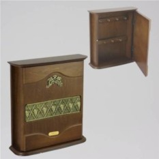 Настенная ключница-шкафчик Виноград