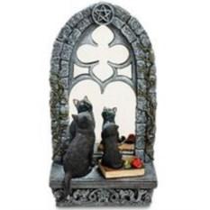Статуэтка Кошка с котенком у зеркала