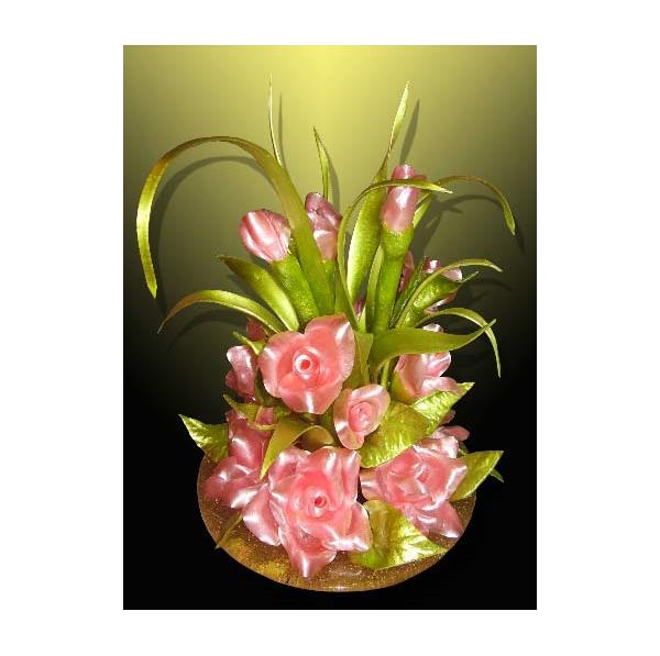 Цветы из карамели «Ах эти розы»