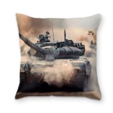 Подушка с 3D принтом Танк