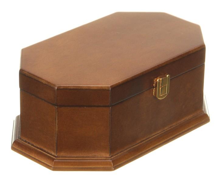 Деревянная коричневая шкатулка для украшений