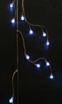 Электрическая гирлянда «Шарики», 48 LED, белое свечение