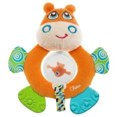 Мягкая погремушка Chicco Бегемот Hippo