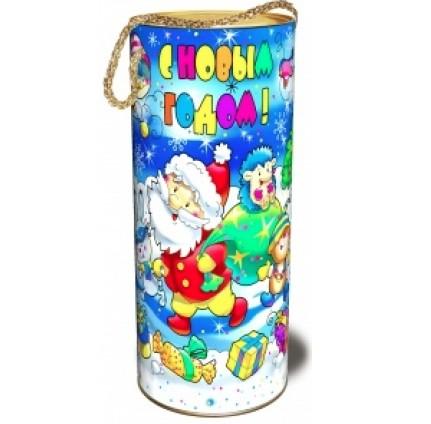 Сладкий новогодний подарок Туба с конфетами