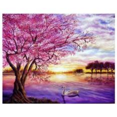 Картина-раскраска по номерам на холсте Лиловый май