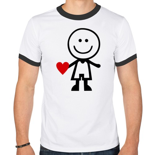 Мужская парная футболка Люблю ее