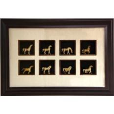 Картина по фэн-шуй 8 лошадей успеха