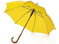 Желтый женский зонт-трость, желтый