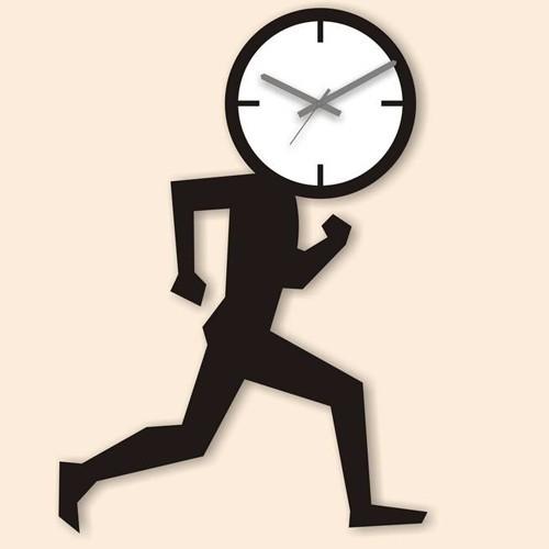 Настенные часы Пора бежать