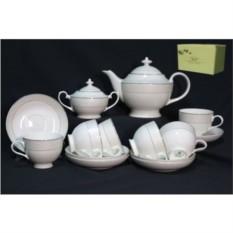 Фарфоровый чайный сервиз 16 предметов Арлекин