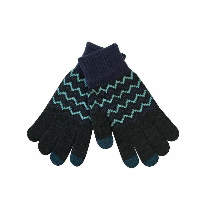 Дизайнерские перчатки для сенсорных экранов «Снежные узоры»