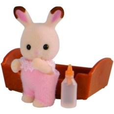 Игровой набор Sylvanian Families Малыш Шоколадный кролик