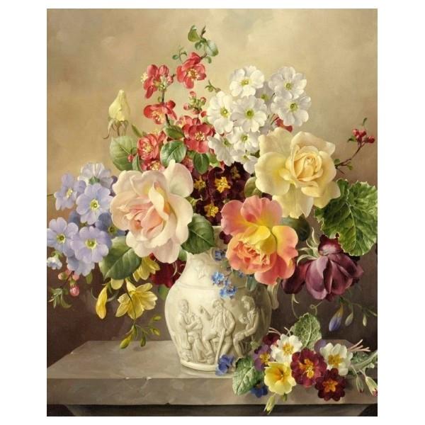 Картина-раскраска по номерам на холсте Разноцветье