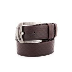 Темно-коричневый мужской кожаный ремень G.Ferretti тип 73-6