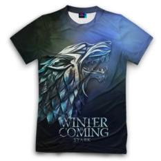 Мужская футболка 3D с полной запечаткой Зима близко