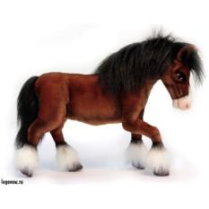 Мягкая игрушка Hansa Лошадь клейдесдальской породы, 50 см