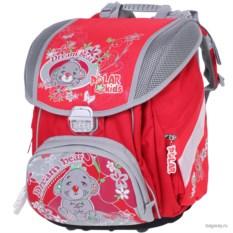Красный ранец Polar School Мишка