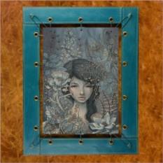 Картина из кожи Водный мир Одри Кавасаки