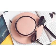 Розовая мини-сумочка Шляпка