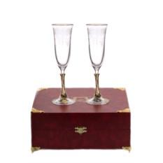 Бокалы для шампанского в шкатулке Смородина (2 штуки)