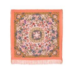 Шелковый платок (крепдешин, бахрома) Королевский бал