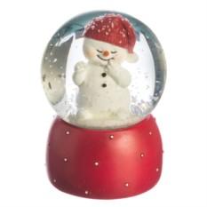 Фигурка Новогодний шар. Снеговик в шапочке