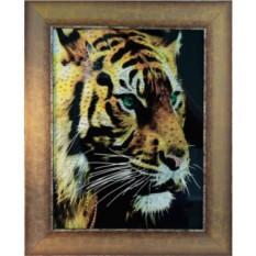 Картина Swarovski Огненный тигр