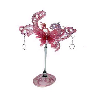 Подставка для серёжек «Розовая бабочка»