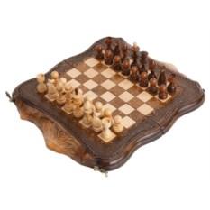 Малые резные шахматы и нарды Арарат