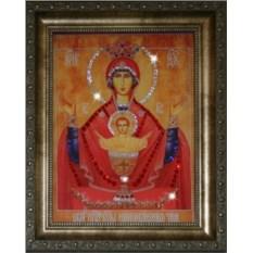 Икона Божией Матери Неупиваемая Чаша со стразами Swarovski