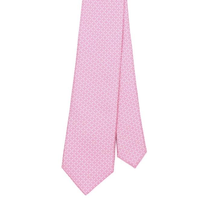 Галстук Fumagalli, с мелким рисунком розовый