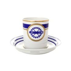 Фарфоровая чайная чашка с блюдцем Кают компания № 6
